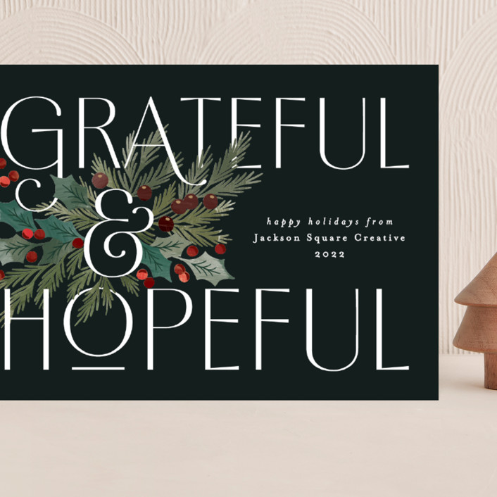 """""""Grateful and Hopeful"""" - Grand Holiday Cards in Wreath by Alethea and Ruth."""