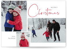 This is a red holiday photo card by Cass Loh called Journal  with standard printing on signature in grand.