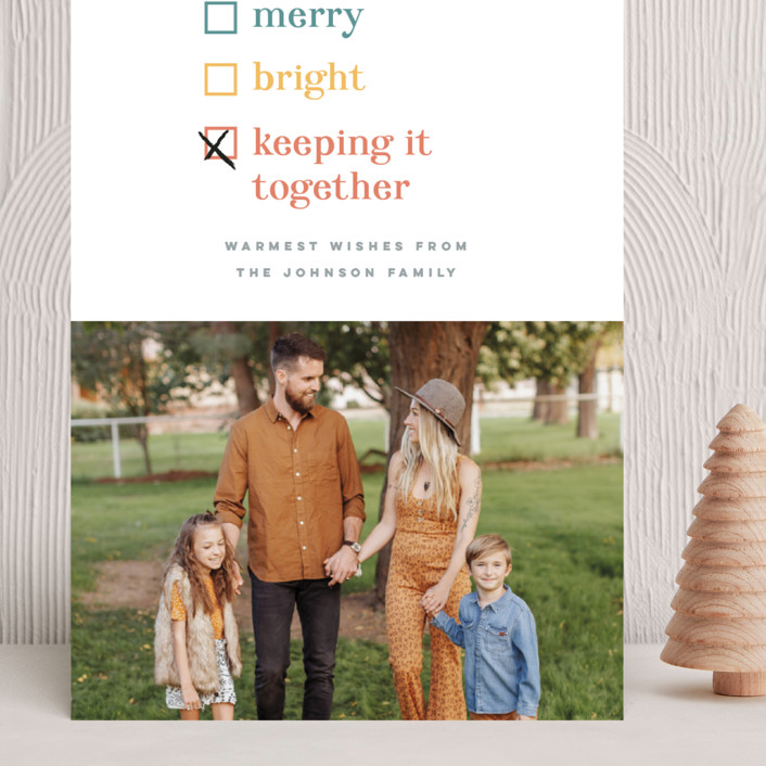 """""""Keeping it together"""" - Funny Grand Holiday Cards in Cornucopia by Pink House Press."""