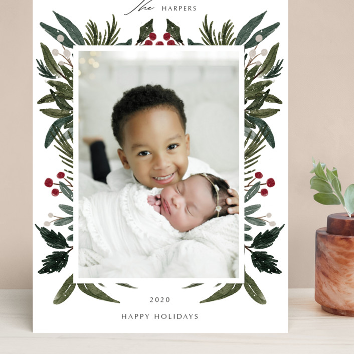 """Festive Love"" - Grand Holiday Cards in Fern by Elly."