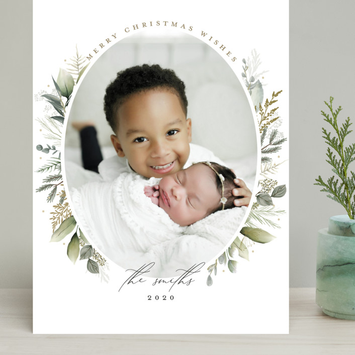 """""""Soft Greenery"""" - Grand Holiday Cards in Sage by Susan Moyal."""