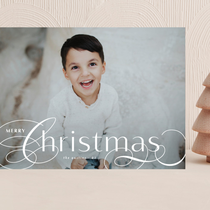 """""""Front Flourish"""" - Grand Holiday Cards in Snow by Lauren Chism."""