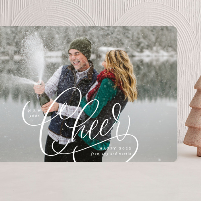 """""""Cheer"""" - Grand Holiday Cards in Snow by Erin German."""