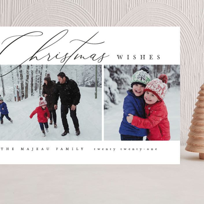 """""""Editorial chic"""" - Grand Holiday Cards in Snow by Kelly Schmidt."""