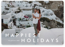 This is a white holiday photo card by Stacey Meacham called Happy moments with standard printing on smooth signature in grand.