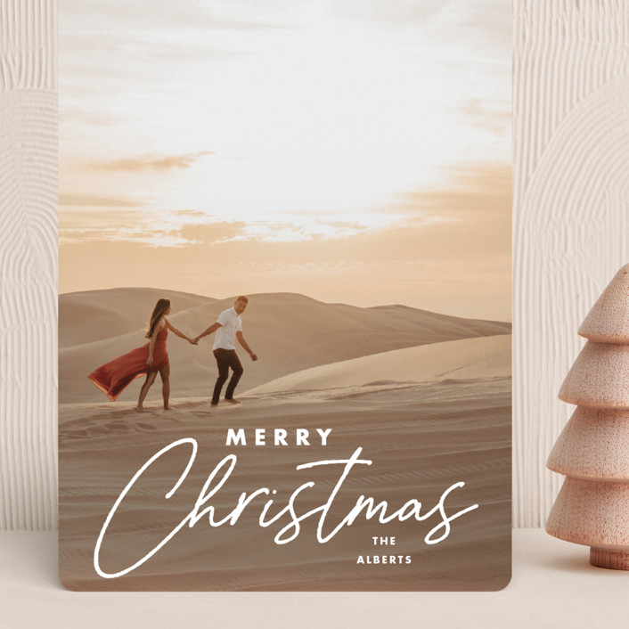 """Modern Mix"" - Modern Grand Holiday Cards in Snow by Stacey Meacham."
