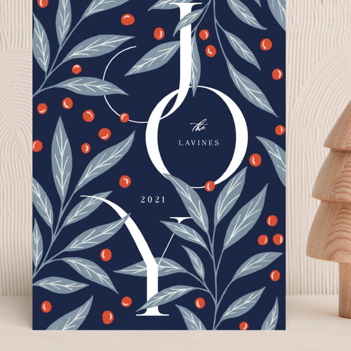 """Field Joy"" - Grand Holiday Cards in Midnight by Yaling Hou Suzuki."