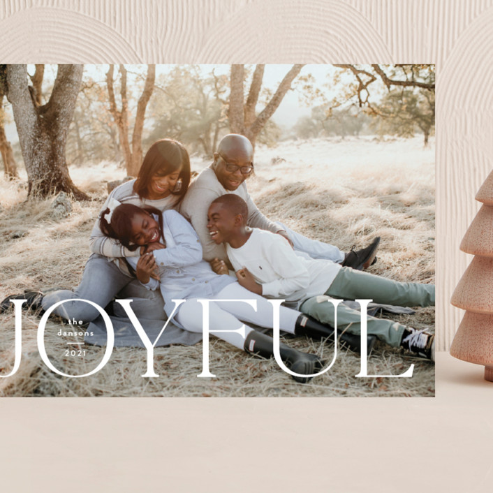"""Joyful Tidings"" - Grand Holiday Cards in Snowfall by Susan Asbill."