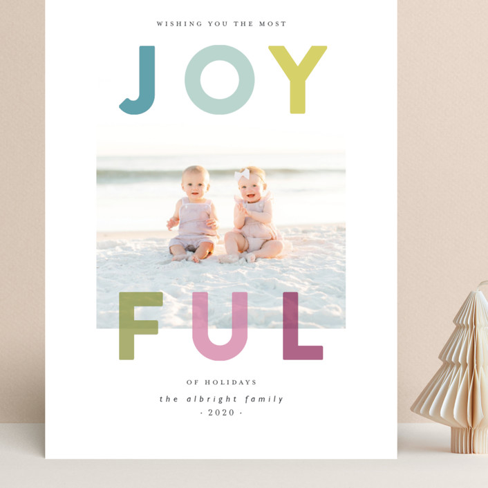 """""""Joyfully Transparent"""" - Grand Holiday Cards in Turquoise by Lisa Cersovsky."""
