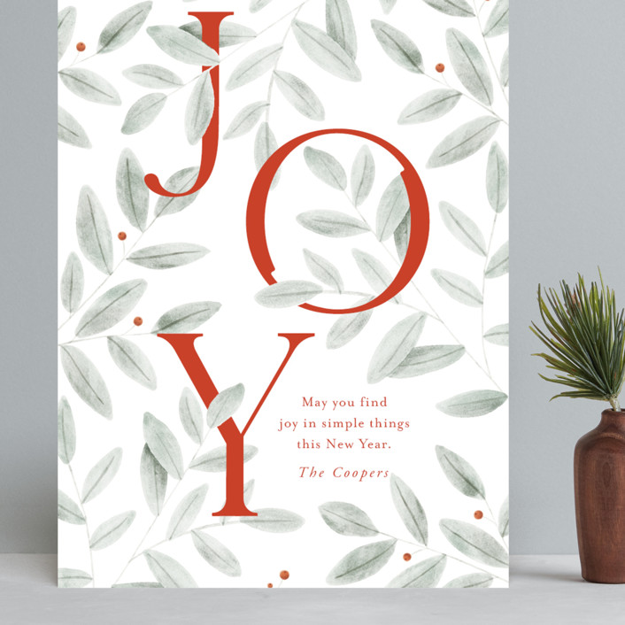 """""""finding joy"""" - Grand Holiday Cards in Santa Suit by Oscar and Emma - Karly Depew."""