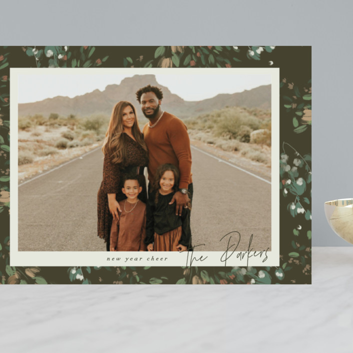 """""""Simple Floral Frame"""" - Grand Holiday Cards in Pine Forest by Grace Kreinbrink."""