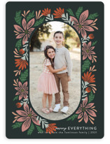 This is a grey holiday photo card by Jen Owens called arrangement with standard printing on smooth signature in grand.