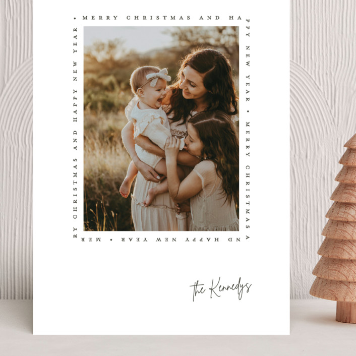 """""""Type Frame"""" - Grand Holiday Cards in Stone by Brianne Larsen."""