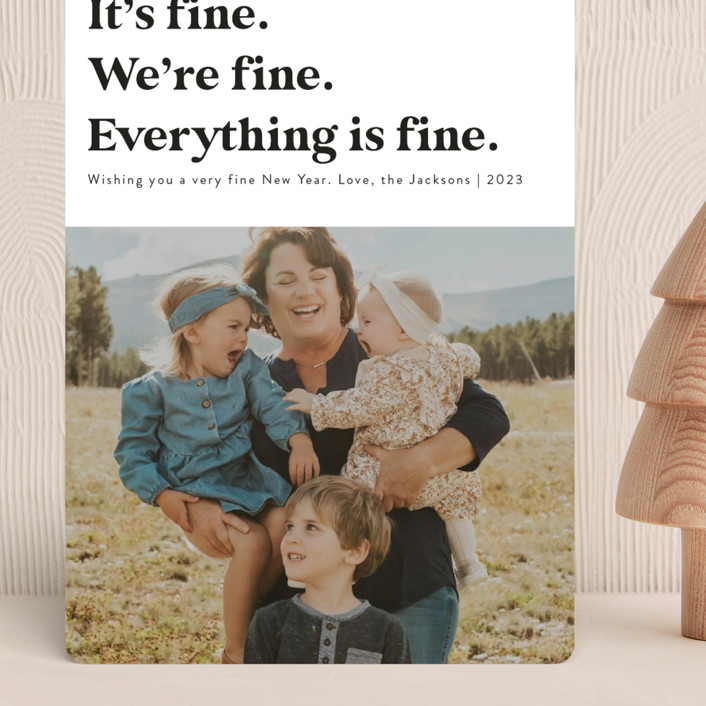 """""""Everything is Fine"""" - Funny Grand Holiday Cards in Midnight by Jackie Crawford."""