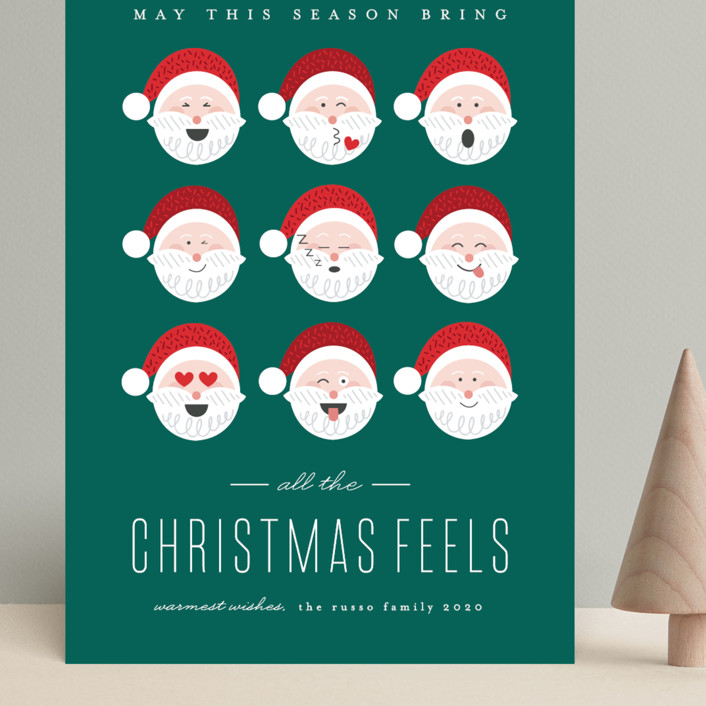 """""""Christmas Feels"""" - Funny Grand Holiday Cards in Noble Fir by Erica Krystek."""