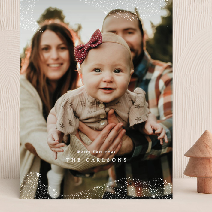 """""""Snowfall"""" - Bohemian Grand Holiday Cards in Winter by Itsy Belle Studio."""
