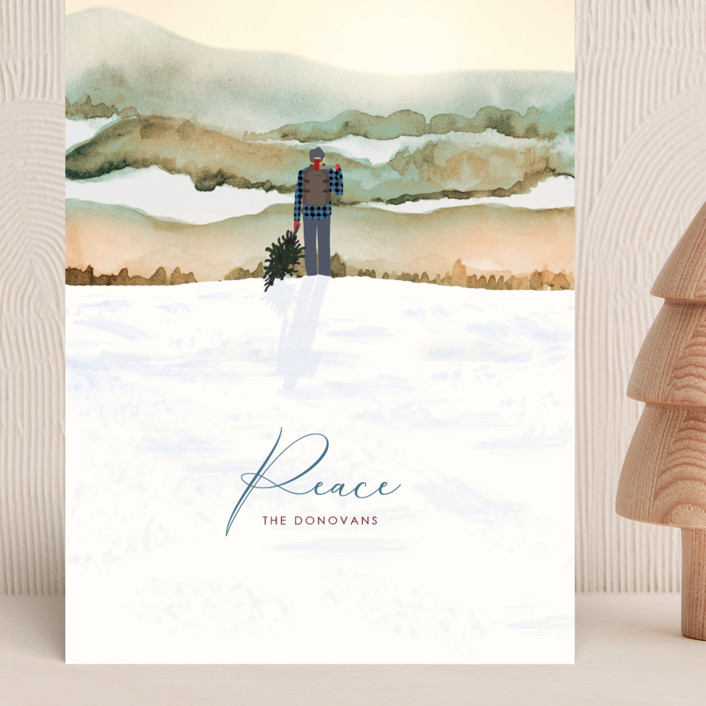 """""""Winter Vista"""" - Bohemian Grand Holiday Cards in Dawn by Shannon."""