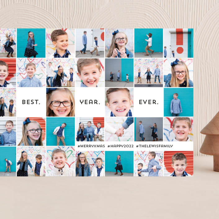 """""""Insta-grid"""" - Grand Holiday Cards in Cotton by Dawn Jasper."""