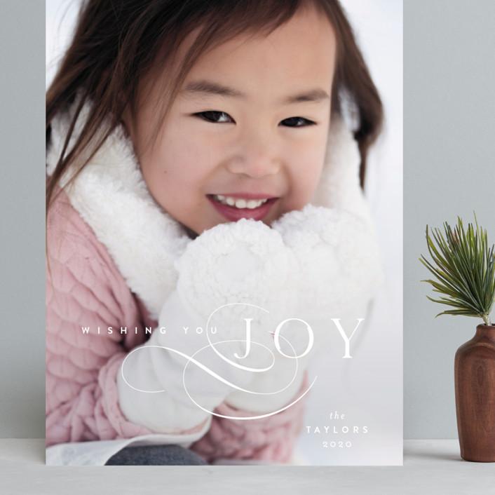 """Joy Flourish"" - Grand Holiday Cards in Snow by Kristie Kern."