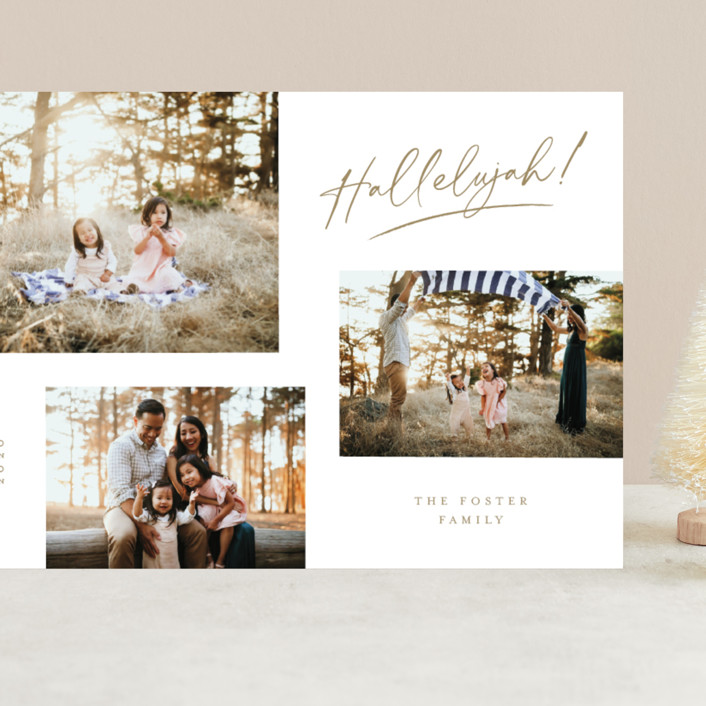 """""""All the Hallelujah"""" - Grand Holiday Cards in Honey by Pixel and Hank."""