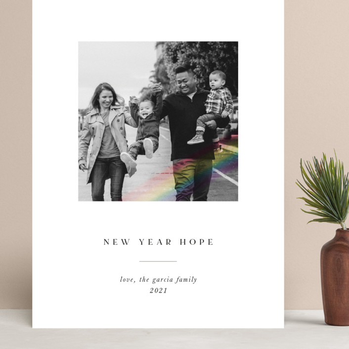 """""""Rainbow Overlay"""" - Grand Holiday Cards in Ink by Chryssi Tsoupanarias."""