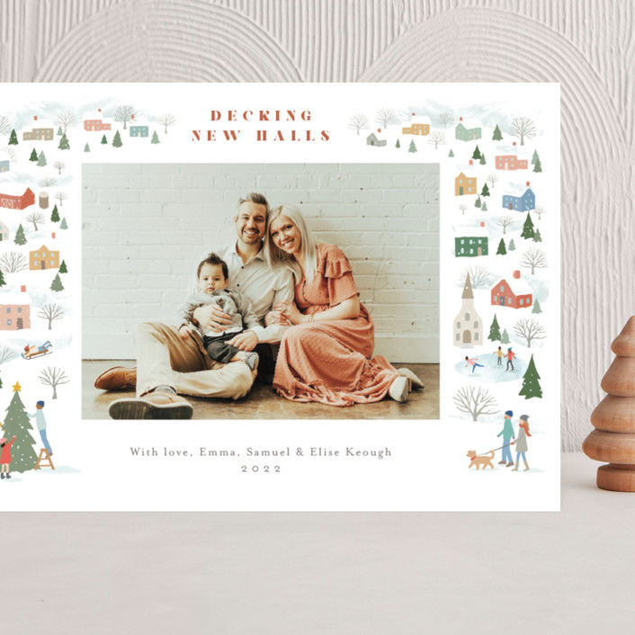 """""""Winter Village"""" - Grand Holiday Cards in Snowflake by Jennifer Wick."""