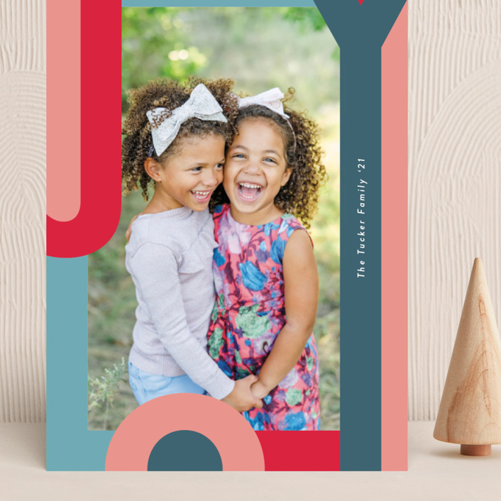 """""""Happy Hue"""" - Grand Holiday Cards in Ruby by Lauren Chism."""