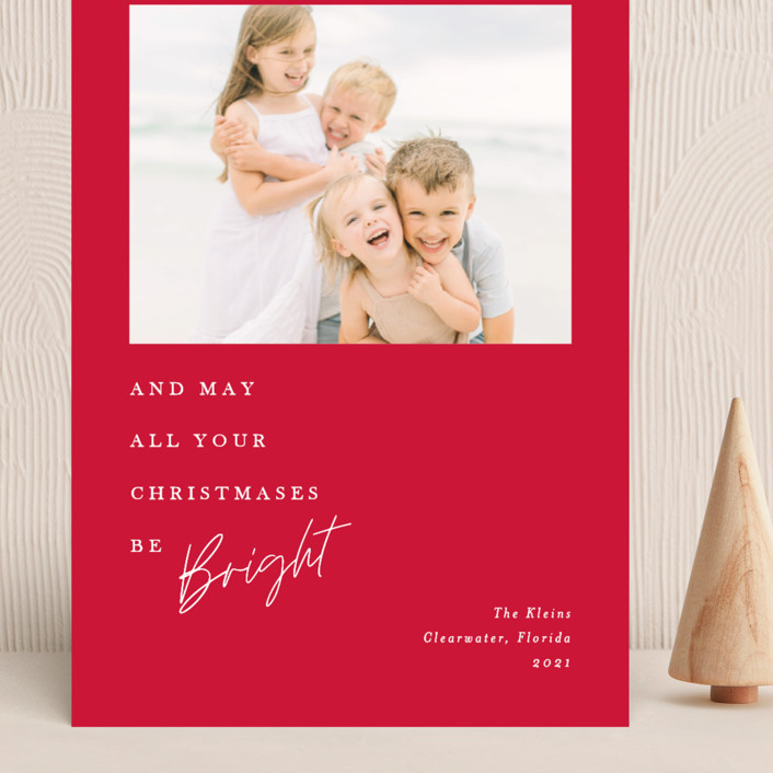 """""""Bright Christmas"""" - Grand Holiday Cards in Snowfall by Amy Payne."""