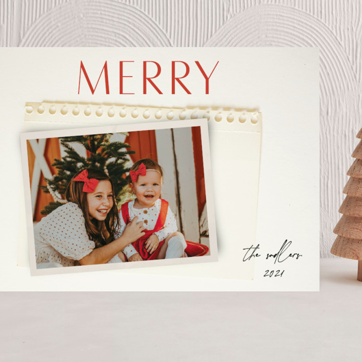 """""""Nostalgia"""" - Grand Holiday Cards in Holly Berry by Morgan Kendall."""