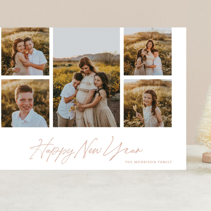 """""""New Year Frame"""" - Grand Holiday Cards in Bloom by Blustery August."""