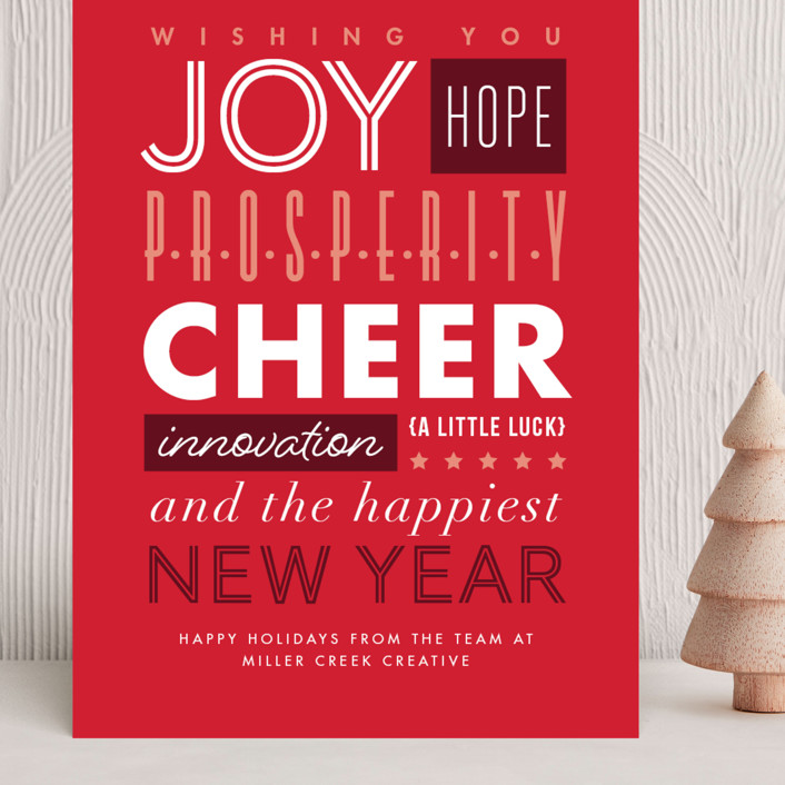 """""""Typography"""" - Grand Holiday Cards in Candy Cane by Amy Payne."""