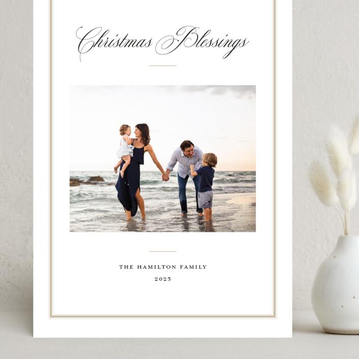 """Elegant Frame"" - Grand Holiday Cards in Crimson by Annie Shapiro."