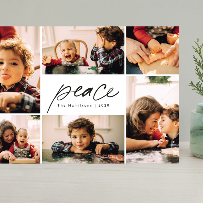 """Peace."" - Grand Holiday Cards in Ink by Caitlin Considine."