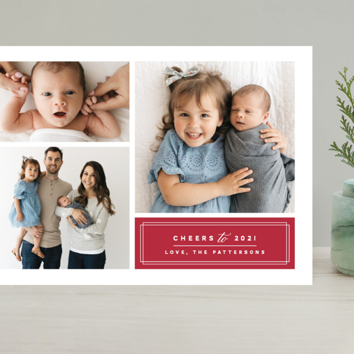 """""""Classic Trio"""" - Grand Holiday Cards in Holy Berry by Griffinbell Paper Co.."""