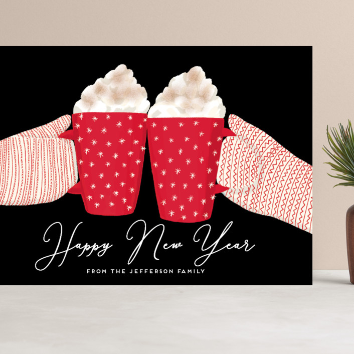 """warmest holidays"" - Grand Holiday Cards in Candy Cane by Alexandra Dzh."