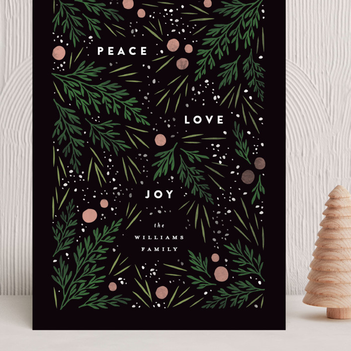 """""""Moody Flatlay"""" - Grand Holiday Cards in Onyx by Robert and Stella."""