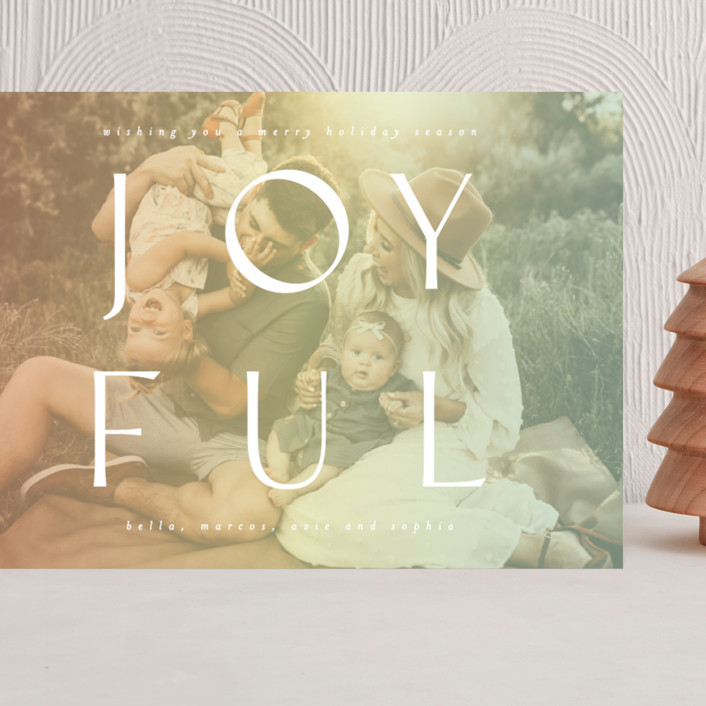 """""""Fully Joyful"""" - Grand Holiday Cards in Sherbet by Ashlee Townsend."""