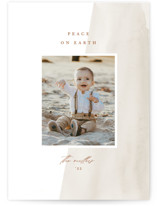 This is a beige holiday photo card by Amy Kross called Simple Wash with standard printing on smooth signature in grand.