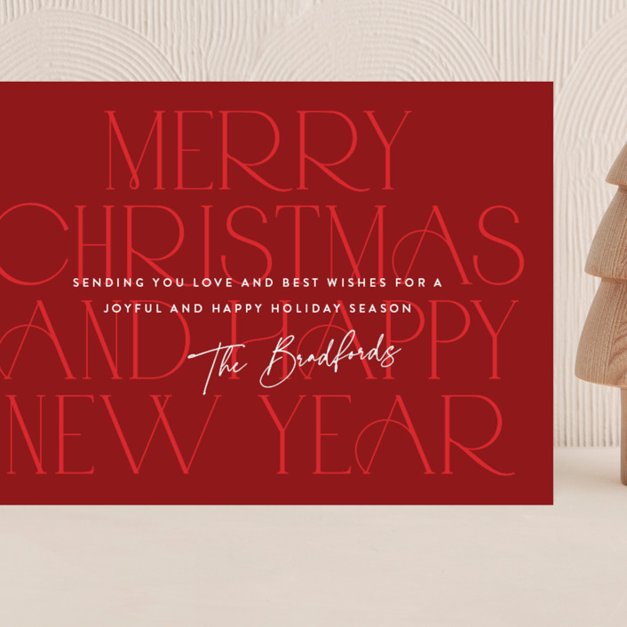 """""""Tonal"""" - Grand Holiday Cards in Cardinal by Jessica Williams."""