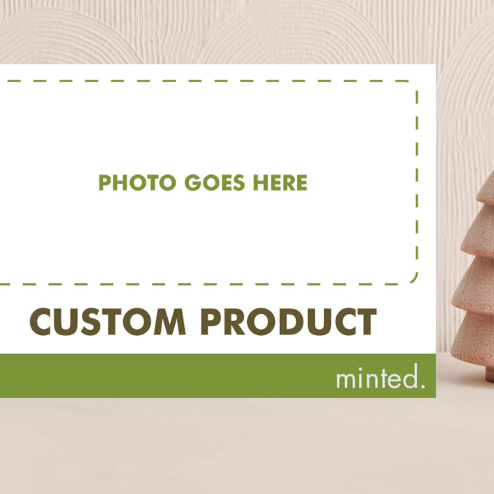 """5""X7"" landscape custom"" - Modern Grand Holiday Cards in Charcoal by Minted Custom."