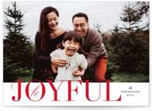 This is a red holiday photo card by Kimberly FitzSimons called Simply Put with standard printing on smooth signature in grand.