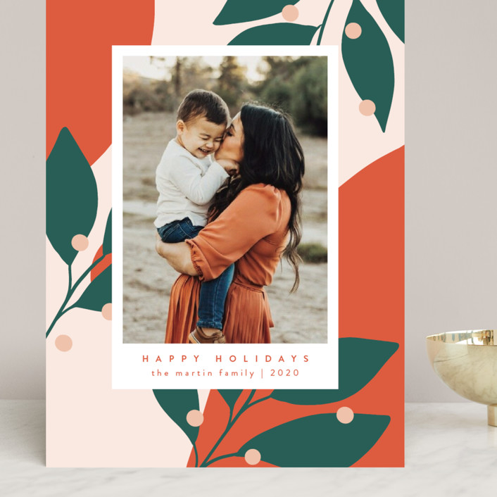 """""""Bold and Bright"""" - Modern Grand Holiday Cards in Mandarin by Kelly Schmidt."""