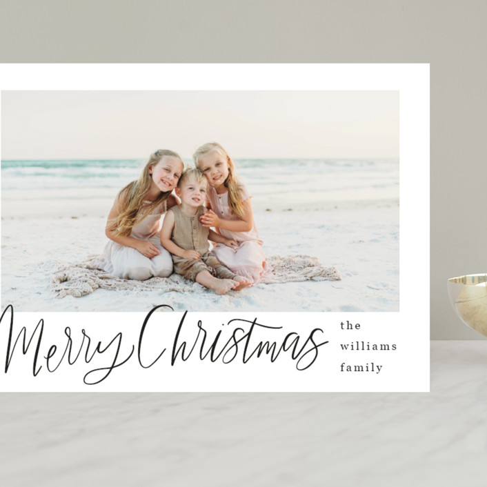 """""""Minimal Lettered Christmas"""" - Grand Holiday Cards in Onyx by Alicia Schultz."""