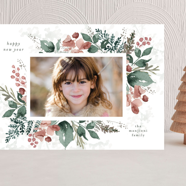 """""""Rejoice in Blessings"""" - Grand Holiday Cards in Rose by Chris Griffith."""
