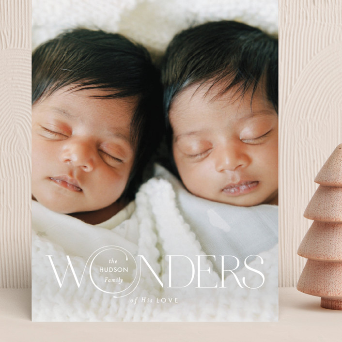 """Full of Wonders"" - Grand Holiday Cards in Dove by Monika Drachal."