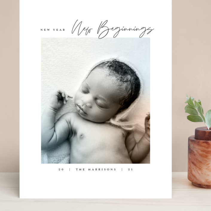 """""""Joyful Beginnings"""" - Grand Holiday Cards in Mocha by Heather Cairl."""