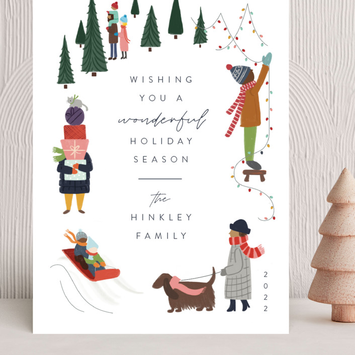 """Wonderful Season"" - Vintage Grand Holiday Cards in Confetti by JeAnna Casper."