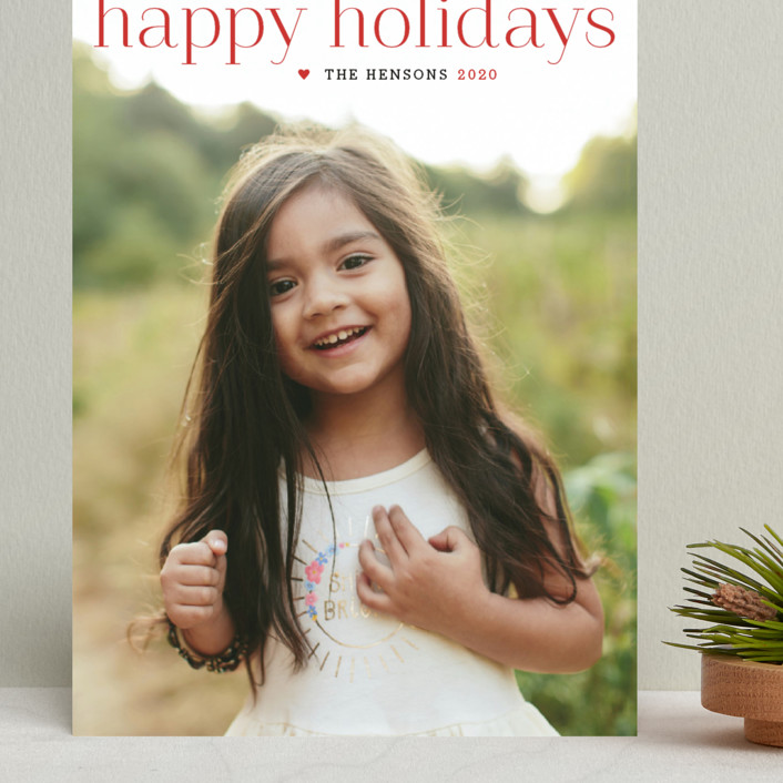 """""""Timeless Greeting"""" - Grand Holiday Cards in Holly Berry by Alston Wise."""