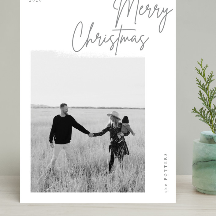 """""""minimal christmas script"""" - Grand Holiday Cards in Stone by Sumak Studio."""