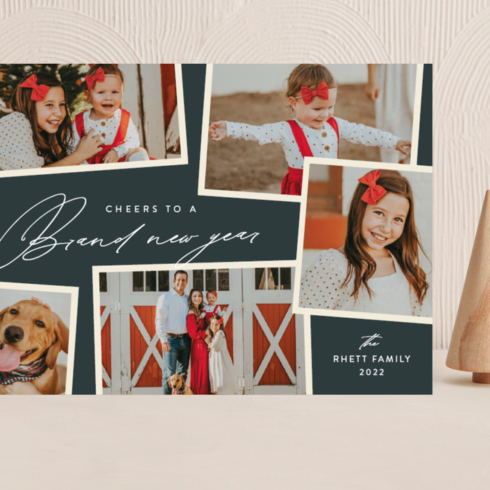 """""""Holiday Scrapbook"""" - Grand Holiday Cards in Lagoon by Jennifer Postorino."""